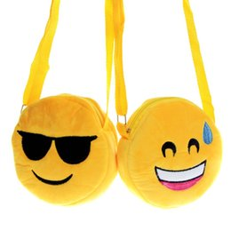 online shopping 14 style Emoji Expression Shoulder Bag Cute Emoji Coin Bags Kids Emoji Snack Bags Womens Girls Children Creative Chirstmas Gifts