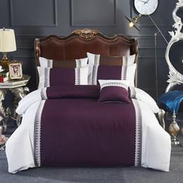 4 6pcs 100 cotton greypurple luxury girls bedding set queen king size bed linen sheets set lace duvet quilt covers