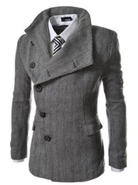$enCountryForm.capitalKeyWord Canada - European and American fashion cultivate one's morality men winter new boutique personality herringbone cloth trench coat   M-2XL