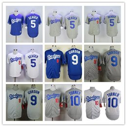 mens los angeles dodgers 5 corey seage 9 dee gordon 10 justin turner mlb baseball jersey
