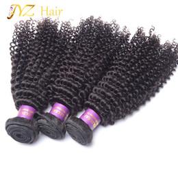 $enCountryForm.capitalKeyWord Canada - JYZ Hot Selling Brazilian Kinky Curly Hair Weave Unprocessed Hair Extensions 3 Pcs Lot 8-28 Inches Brazilian Weave Human Hair