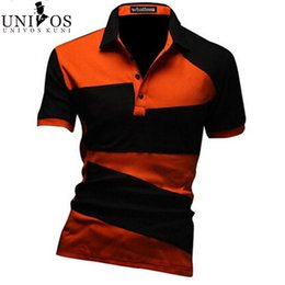 Ropa Al Por Mayor Baratos-Al por mayor- Stock T-shirt 2016 Spring Casual Men's Clothing Brand T Shirt Hombres camiseta para hombres Camisetas Masculina Social R1390