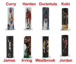 wholesale basketballs Canada - 18650 battery Vaper wrapper protective skin cover stickers USA basketball player James Harden Kobi Ivring Westbrook Curry Durantula DHL Free