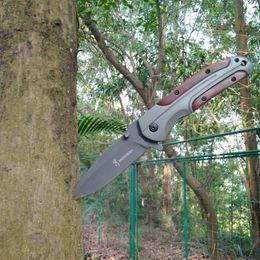 $enCountryForm.capitalKeyWord Australia - Browning DA43 Tactical Hunting Folding Knife 3Cr13MOV Steel Wood Handle Jackknife Full Length 8 inch Pocket Hand Tools Survival Travel Kit