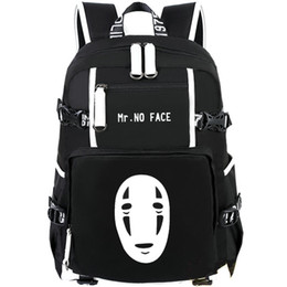 $enCountryForm.capitalKeyWord UK - Mr no face picture backpack Totoro daypack Mask man schoolbag Cartoon rucksack Sport school bag Outdoor day pack