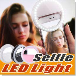 Selfie Light LED Ring Fill Light Illuminazione supplementare Fotografia per fotocamera per Samsung Galaxy S8 iPhone 7 6 6s LG Sony e tutti i telefoni intelligenti in Offerta