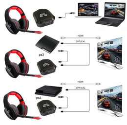xbox one tv NZ - 2017New Version Stereo headset 2.4Ghz Optical Wireless Gaming Headset headphone for PS4 3 XBox 360 one PC TV earphones