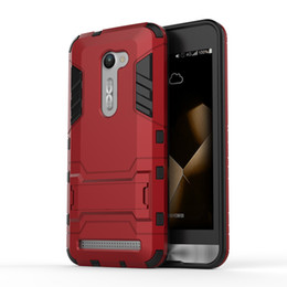 Hard case cover for asus online shopping - For Asus zenfone Dual Layer TPU PC Back Capa Cover Hybrid Rocket Kickstand Hard Protective Cover