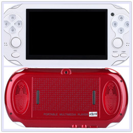"""mp5 player inches 2019 - 4.3"""" TFT Screen 4GB Handheld Game mp5 Player mp3 Player mp4 Player With Dual Joystick Camera FM TV-O Free DHL cheap"""