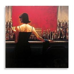 Обрамленный сигарный бар Woman by Brent Lynch, Pure Handpainted Современный декор Картина маслом в стиле поп-арт на холсте. Доступно несколько размеров, бесплатная доставка my126