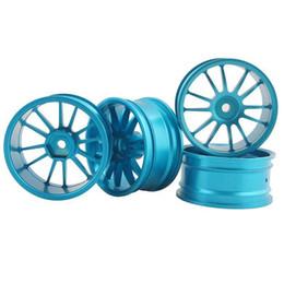 Electric Road Cars UK - RC Aluminum Wheel 4pc D:52mm W:26mm Fit HSP HPI 1:10 On-Road Drift Car Rim 123B
