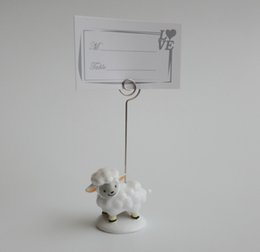 popular cute baby sheep place card holder lovely resin message note clip birthday and wedding party decoration favors