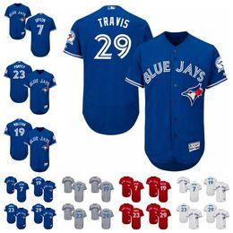 29 devon travis white red cool base flexbase baseball mens toronto blue jays flexbase baseball jersey 7 melvin upton jr. 19 molitor 23 dalton