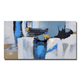 Modern Wall Art Decor Cheap NZ - Nice Decor Oil Painting Abstract Blue Wall Pictures Modern Canvas Art Painting for Living Room Cheap Oil Painting No Framed