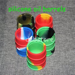 $enCountryForm.capitalKeyWord Canada - Silicone oil barrel container jars dab wax vaporizer oil rubber drum shape container large food grade silicon dry herb box tool DHL