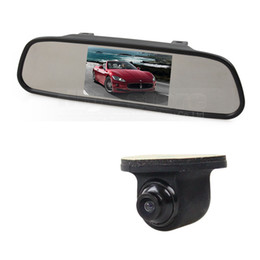 rear monitor UK - 5inch TFT LCD Display Car Monitor Rear View Mirror Monitor + CCD Backup Rear   Front   Side View Camera Cam
