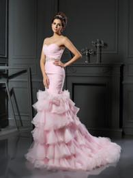 $enCountryForm.capitalKeyWord NZ - Milla Nova Mermaid Wedding Dresses 2017 Vestido De Novia Elegant Bridal Gowns Strapless Pink Organza Wedding gowns
