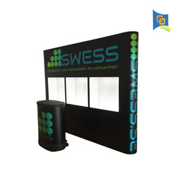Exhibition Screen NZ - New Product! 10ft Variety Exhibition Display Stand Trade show Exhibition Booth Advertising Display Exhibiton Advertising with Show Window