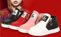 Flower Shoes Kids NZ - 2018 hot Spring Autumn Fashion Child Boots For boys girls leather boots shoes causal flat children martin boot shoes 26-36 kids boot
