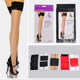 7f01b248db226 Wholesale-Free Shipping 2016 New Fashion Sexy Women Ladies Heal Seamed Seam  Thigh High Stockings