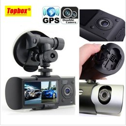 Digital 3D cameras online shopping - New Dual Camera Car DVR R300 with GPS and D G Sensor quot TFT LCD X3000 Cam Video Camcorder Cycle Recording Digital Zoom