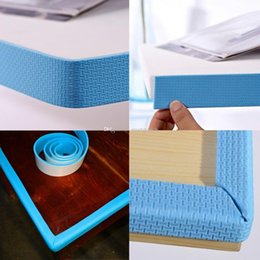 baby table corner UK - Baby Safety Table Desk Edge Corner Cushion Strip Softener Bumper Protector L00027 FASH