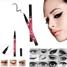 $enCountryForm.capitalKeyWord Canada - Wholesale- Professional Hot Sale Makeups Women Popular Waterproof Eyeliner vloeibare Beauty Tool Black zwarte Eye Liner Pencil