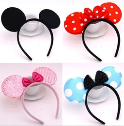 fancy dress costumes mouse Australia - Halloween Bow Fancy Dress Headband Christmas Birthday Party Adults Kids Cosplay Mouse Headbands festive event favors costume accessory