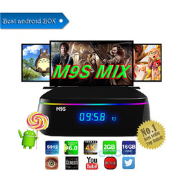 Tv Androids Octa Core Canada - Octa Core amlogic S912 2GB 16GB TV Box WIFI Android IPTV BOX M9S MIX Support H265 Europe Arabic IPTV Channels Media Player
