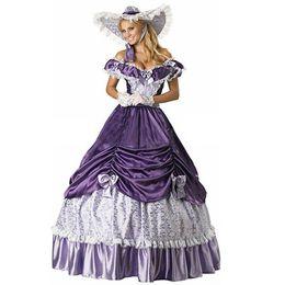 War dress online shopping - Century Purple Civil War Southern Belle Gown Evening Dress Party Victorian dresses For Women