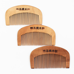 massage natural UK - The new natural health wooden comb (print clear) anti-static comb wooden comb 16 wholesale massage
