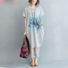 $enCountryForm.capitalKeyWord Canada - Plus Size T-Shirt Summer Style Women Pattern Cotton Dress O-Neck Dress Female Casual Tops&Tees Short Sleeve Fashion With Pocket
