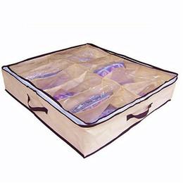 Di alta qualità Home Nuovo tessuto non tessuto antipolvere 12 paia di scarpe di stoccaggio Organizzatore Holder Shoe Organizer Bag Box Under Bed Closet