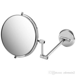 2017 8 Double Side Folding Wall Mounted Makeup Shave Vanity Mirror Round With Frame Arm Base Chrome Bathroom On