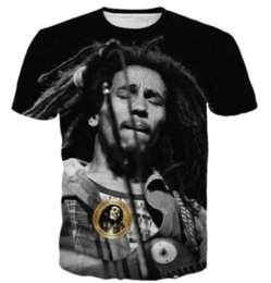 Chinese  Newest Fashion Mens Womens Reggae Star Bob Marley Funny T-Shirt Summer Style Funny Unisex 3D Print Casual T-Shirt S---5XL AA399 manufacturers