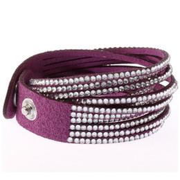 $enCountryForm.capitalKeyWord UK - Hot Leather Bracelets for Women Men Jewelry 2017 Magnetic Tassel Pulseira Feminina Fashion Cuff Bracelets & Bangles