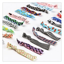 styling ponytail Canada - High Quality Knotted Hair Ties Bands Fold Over Elastic Hair Band FOE Band Gilrs Ponytail Holder No Fraying Assorted Colorful Styles