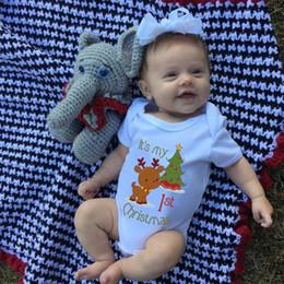 My First Christmas Baby Shirt Newborn Short Sleeve Bodysuit Cotton Baby Girls Boys Body Clothing Jumpsuit Bodysuits