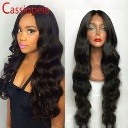 human lace fronts for cheap NZ - Indian Remy Hair Full Lace Human Hair Wigs With Baby Hair For Black Women Glueless Lace Front Wig Middle Part Body Wave Cheap