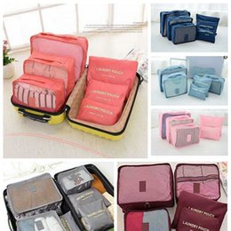 $enCountryForm.capitalKeyWord Canada - Travel Storage Bags Six Piece Suit Waterproof Clothes Blanket Quilt Clothes Luggage Organizer Box Household Pouches Home Organization LDH71