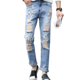 Discount Mens Ripped Torn Jeans | 2017 Mens Ripped Torn Jeans on ...