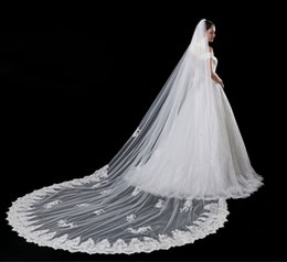 Voile Européen Pas Cher-Nouveau modèle Le mariage de voile Long Tailing Commerce extérieur Mariée européenne Marry Princess The Restore Ancient Ways The Veil White