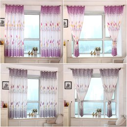 taotown blinds curtains for the kitchen country style print sheer window curtains for the living room bedroom bedroom cheap curtain styles