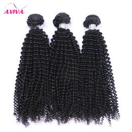 Chinese  Brazilian Curly Virgin Hair Weave Bundles Unprocessed Brazilian Afro Kinky Curly Remy Human Hair Extensions 3Pcs lot Natural Black Soft Full manufacturers