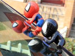 Car window suCker doll online shopping - Kids Spider Man Boy Spiderman Figure Climbing Window Sucker Superhero Doll Car Avenger Party Home Decoration Action Figure