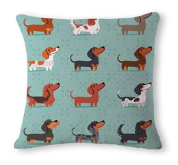 $enCountryForm.capitalKeyWord Canada - cute animal cushion cover decorative pet dog throw pillow case for chaise couch puppy pug almofada gold retriever cojines