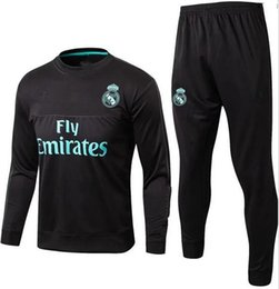 Suéter Baratos-hot 17 18 real madrid tracksuit suéter traje de jogging traje 2017 2018 survetement real madrid trainning conjunto chaqueta RONALDO jersey de fútbol