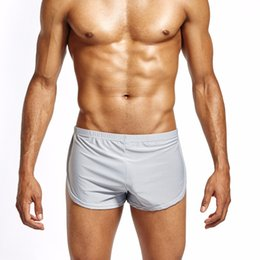 5d53aa2202 Lounge Underwear Canada - Nylon Ice Silk Lounge Spandex Trunks Men s Trunks  Sexy Sissy Panties Men