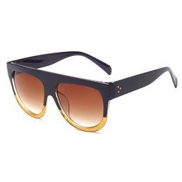 45d8d81a68 Black flat top sunglasses online shopping - Oversized Sun Glasses Cat Eye Sunglasses  Woman Flat Top