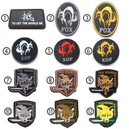$enCountryForm.capitalKeyWord UK - MGS Metal Gear Solid Fox Hound Morale Tactical 3D PVC Patch Outdoor Embroidery Patch Army 3D Cloth Armband Badge free ship
